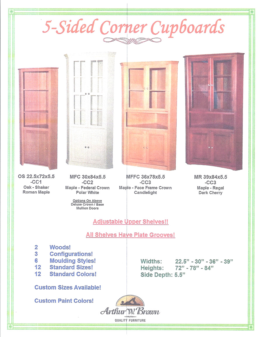 5 sided corner cabinets
