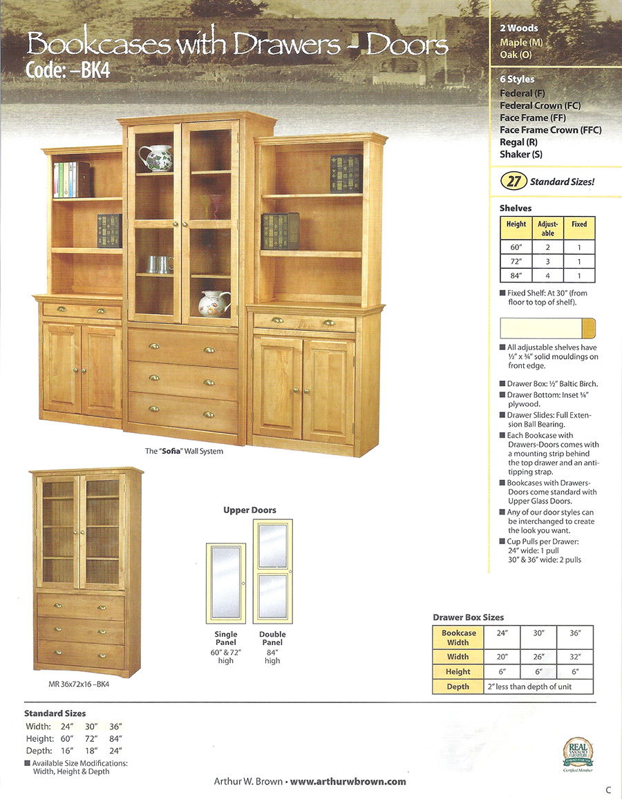 bookcases with drawers - doors