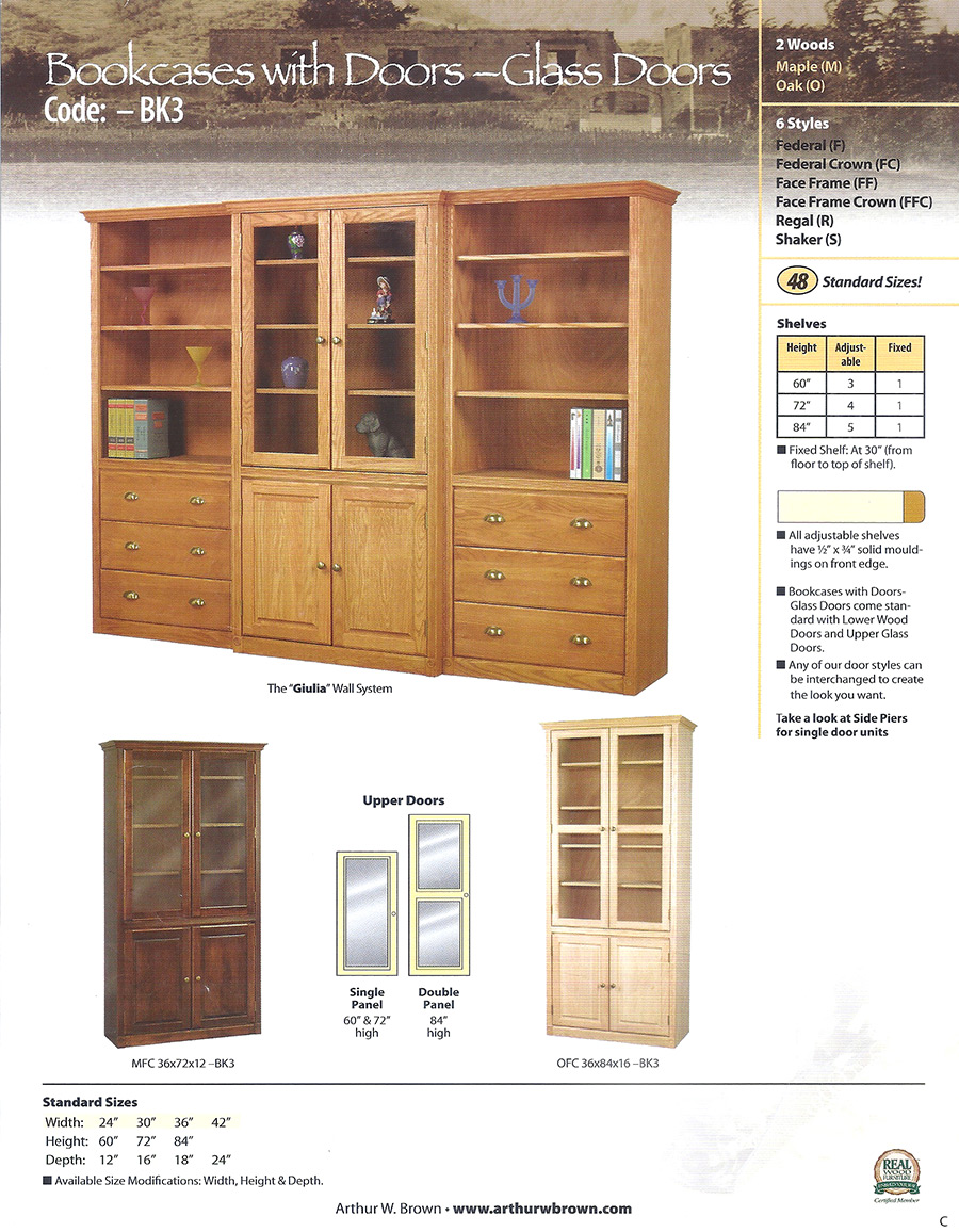 bookcases with doors - glass doors