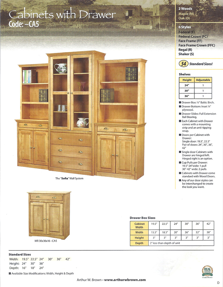 cabinets with drawer