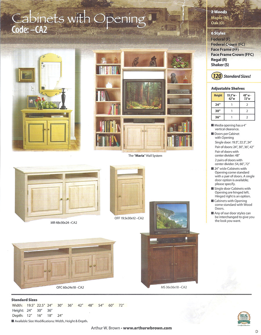 cabinets with openings
