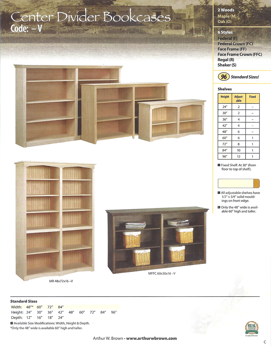 center divider bookcases