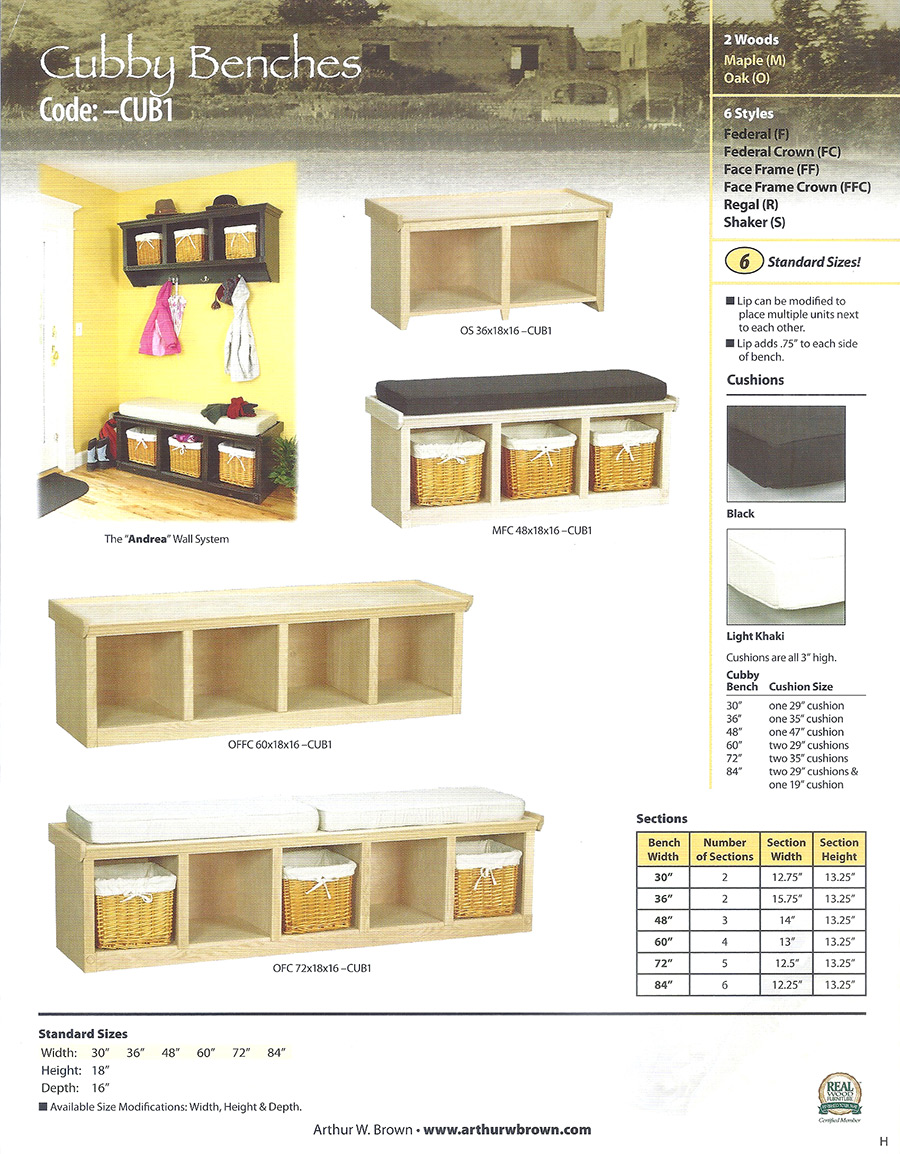 cubby benches