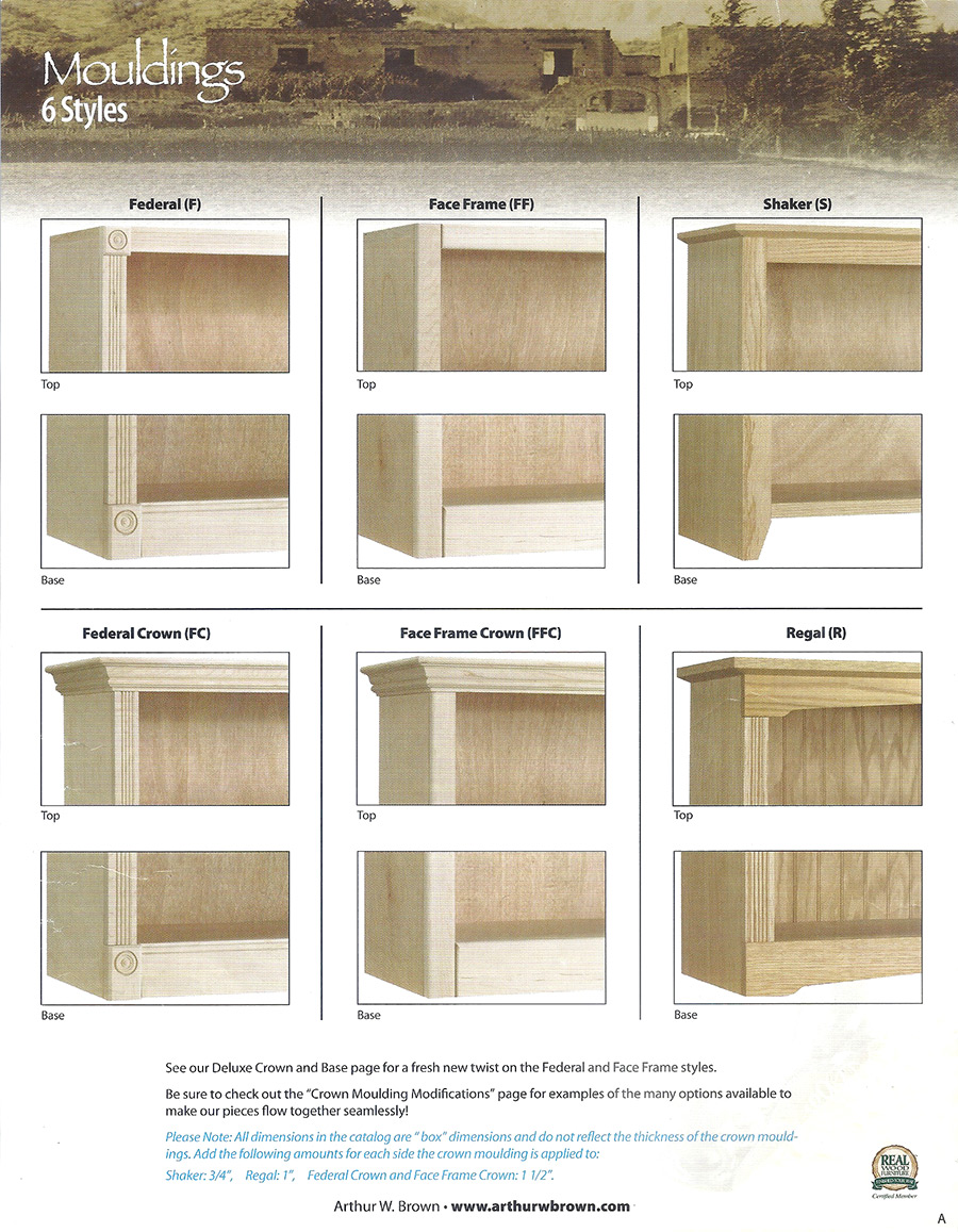 mouldings 6 styles